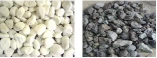 Декорация камина Vero Design - белая и серая галька